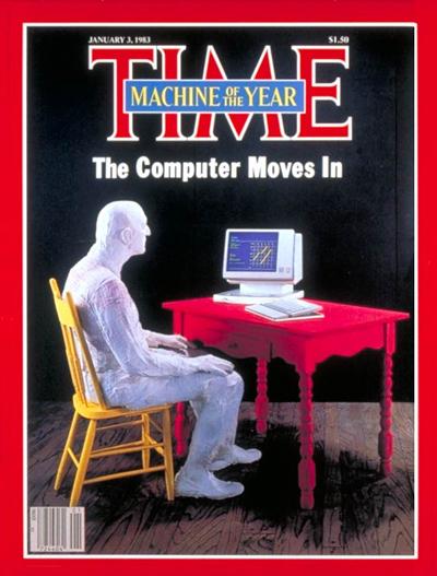 la machine de l'année pour 1983: le PC... L'ordi emménage...