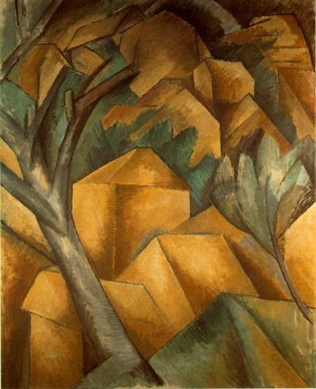 MAISONS À L'ESTAQUE de George Braque, 1907