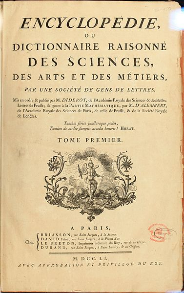 Diderot-D'Alembert-Encyclopedie