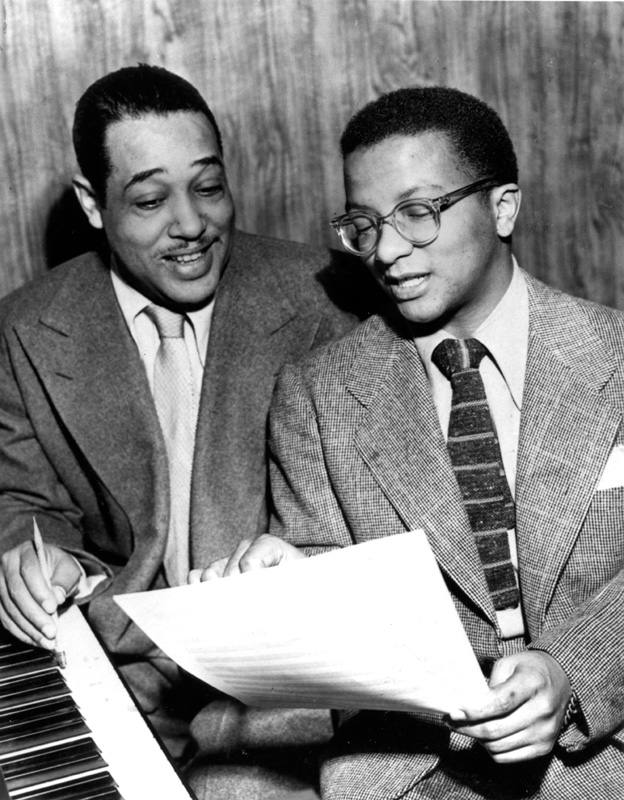 Duke Ellington et Billy Strayhorn en train de régler de concert un problème de composition musicale…