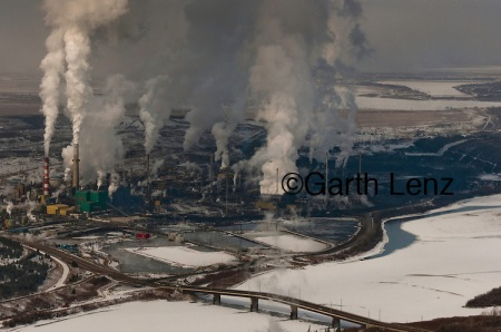 Tar Sands, March 2010. Suncor upgrader.