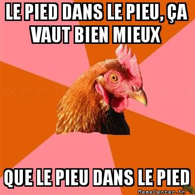 anti-joke-chicken-le-pied-dans-le-pieu-ca-vaut-bien-mieux-que-le-pieu-dans-le-pied