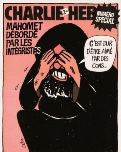 La seule caricature de Mahomet que je supporte vraiment c'est celle-ci, du regretté Cabu. Je la trouve respectueuse et je suis certain qu'elle est pleinement conforme à la réelle intelligence du personnage historique... Et qu'est-ce qu'elle est expressive. Elle dit tout. Il faut la méditer, aujourd'hui plus que jamais.