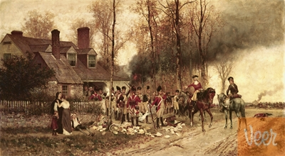 Redcoats interacting with the hinterland