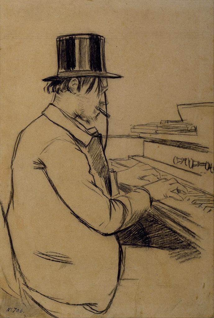 Santiago_Rusiñol_-_Portrait_Erik_Satie_jouant_l'harmonium