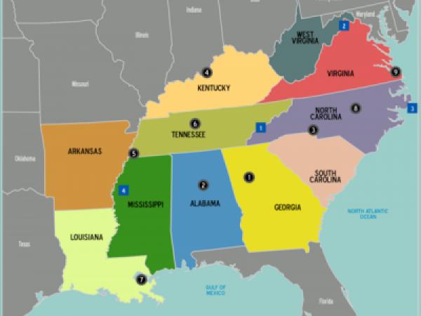 Map-USA-South