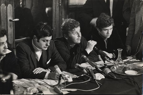 Jacques Sauvagot, Daniel Cohn-Bendit, Alain Geismar. Les trois chefs inversés par excellence.