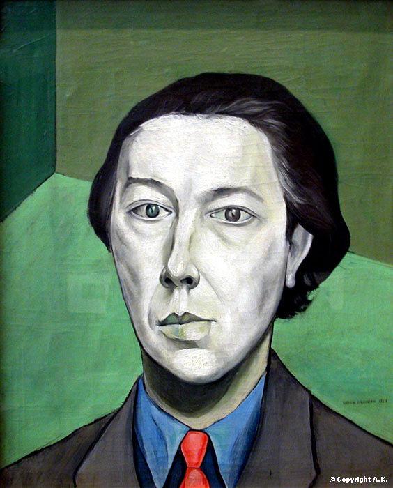 Portrait d'André Breton par Victor Brauner (1934)