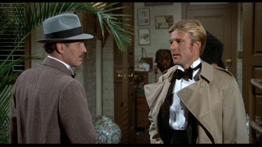 Henry Gondorff (Paul Newman) et Johnny Hooker (Robert Redford) dans THE STING