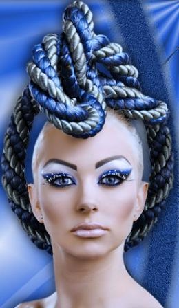 Une coiffure à la garcette — Crête? Tresse?