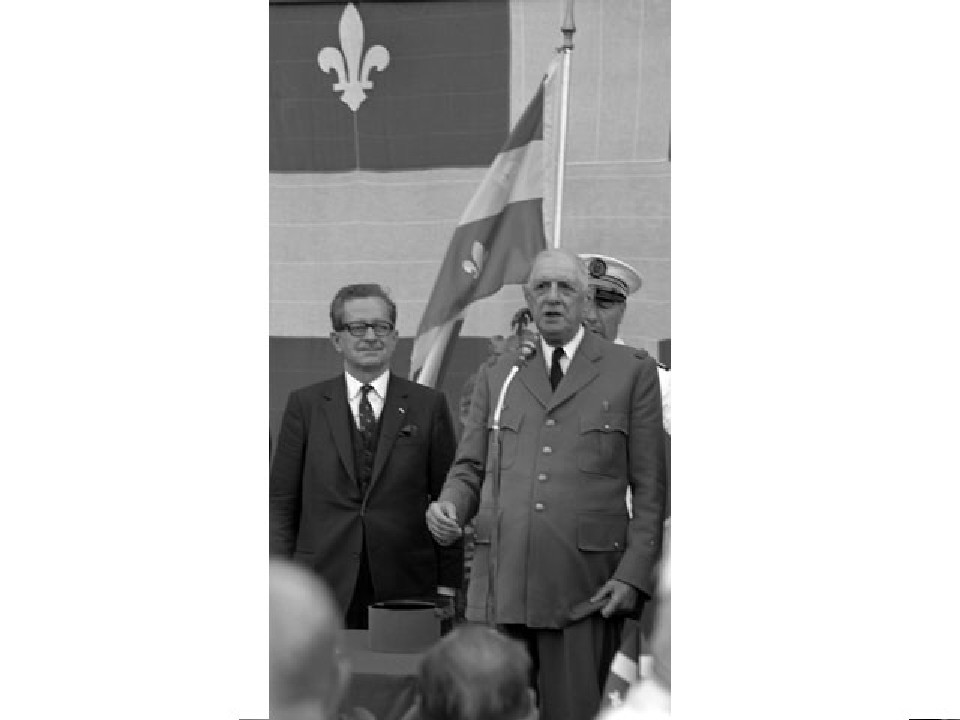 Daniel Johnson et Charles de Gaulle