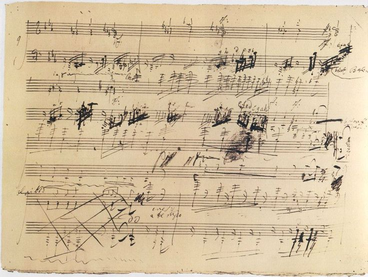 Une partition manuscrite de Beethoven