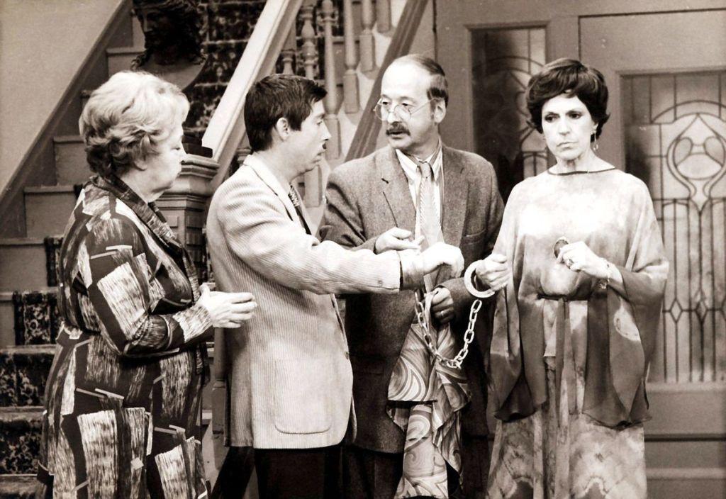Aurore Sylvain (Juliette Huot), Symphorien Laperle (Gilles Latulippe), Éphrem Laperle (Fernand Gignac), Berthe L'Espérance (Janine Sutto)