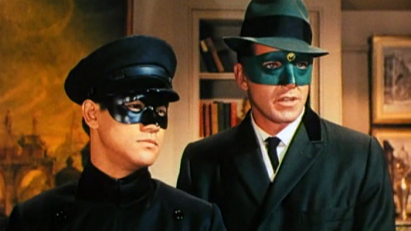Kato (Bruce Lee) et Green Hornet (Van Williams)