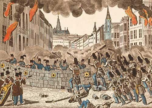 Les barricades de 1848 sur Paris
