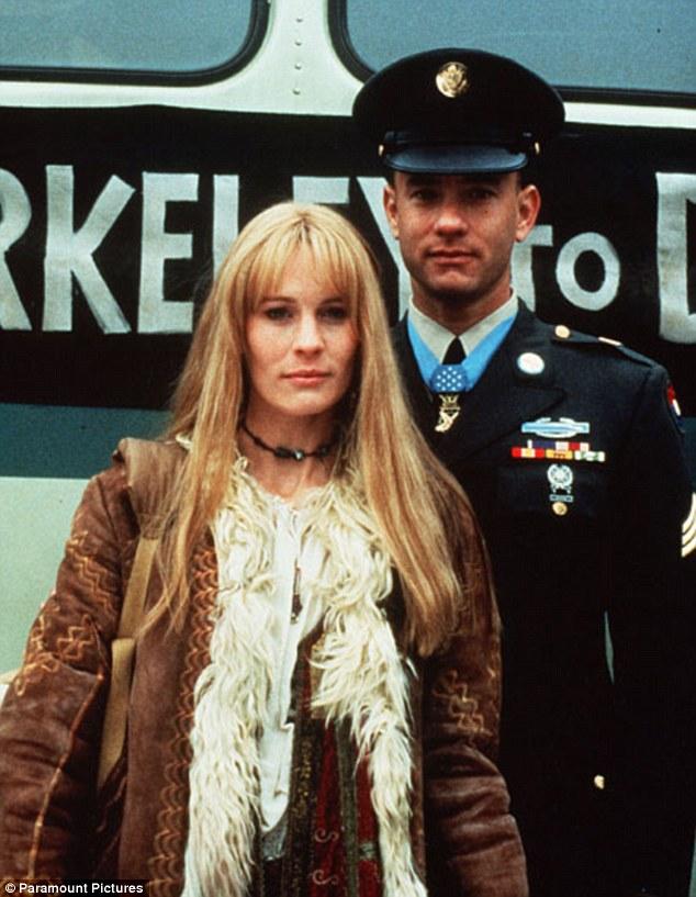 Jenny Curran (en hippie) et Forrest Gump (en ancien combattant de la guerre du Vietnam)