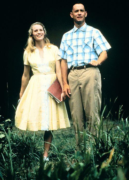 Jenny Curran (jouée par Robin Wright) et Forrest Gump (joué par Tom Hanks), vers 1962